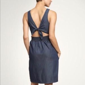GAP Dresses - Gap 1969 Denim Dress with Tie Back and Pockets